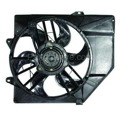TYC - FMA-1116TY TYC 93-96 Escort Auto Trans Tracer Radiator A/C Condenser Cooling Fan Motor Assy