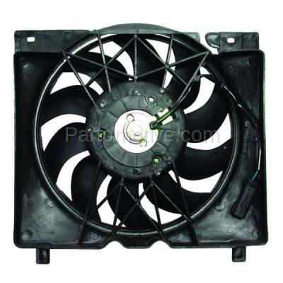 TYC - FMA-1270TY TYC 97 98 99 00 01 Cherokee 4.0L Radiator A/C Condenser Cooling Fan Motor Assy