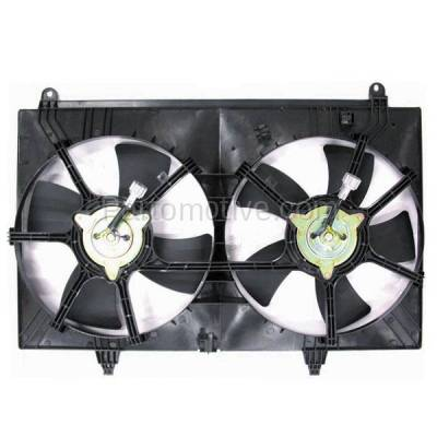 TYC - FMA-1262TY TYC Dual Radiator AC A/C Condenser Cooling Fan Motor Assy For 03-08 FX-35 3.5L