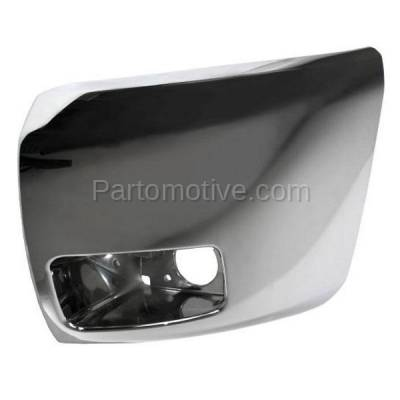 Aftermarket Replacement - BED-1038LC CAPA 2007-2013 Chevrolet Silverado 1500 Pickup Truck (Models with Fog Lamps) Front Bumper Extension End Chrome Left Driver Side