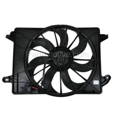 TYC - FMA-1047TY TYC 09-13 Challenger Charger 300 Radiator & A/C Condenser Cooling Fan Motor Assy