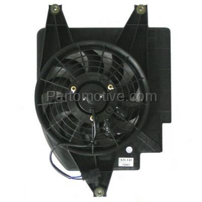 TYC - FMA-1298TY TYC A/C Condenser Cooling Fan Motor Assy Blade Shroud OK30A 61710E For 01-02 Rio