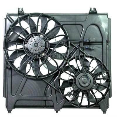 TYC - FMA-1300TY TYC Dual Radiator AC Condenser Cooling Fan Motor Assy For 03 04 05 06 Sorento V6