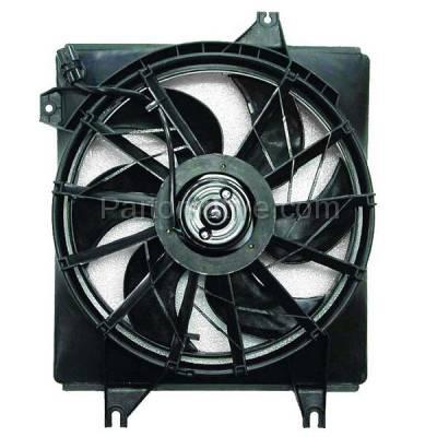TYC - FMA-1224TY TYC 96-00 Elantra 97-01 Tiburon Radiator Engine Cooling Fan Motor Assy w/ Shroud
