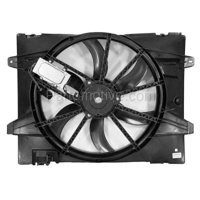 TYC - FMA-1145TY TYC 06-11 Crown Vic. Grand Marquis Radiator A/C Condenser Cooling Fan Motor Assy