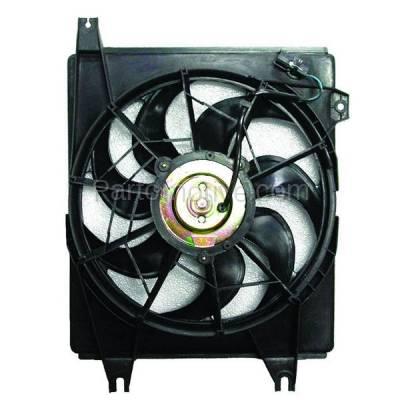 TYC - FMA-1236TY TYC 96-00 Elantra 97-01 Tiburon AC Condenser Cooling Fan Motor Assy Blade Shroud