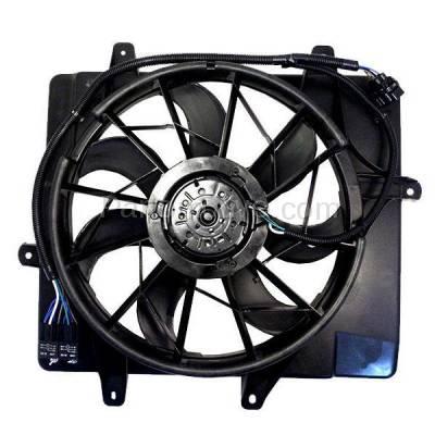 TYC - FMA-1045TY TYC 06-10 PT Cruiser 2.4L Non-Turbo Radiator AC Condenser Cooling Fan Motor Assy