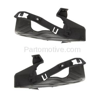 Aftermarket Replacement - BRT-1027FL & BRT-1027FR 07-13 Sierra 1500 Pickup Truck Front (Rear Section) Bumper Cover Retainer Mounting Brace Support Bracket Plastic PAIR SET Right Passenger & Left Driver Side