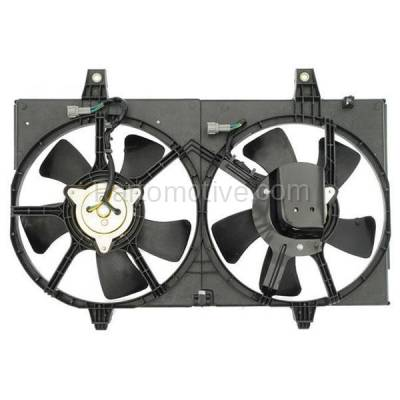 TYC - FMA-1401TY TYC 00-01 Maxima Dual Radiator A/C Condenser Cooling Fan Motor Assy Blade Shroud