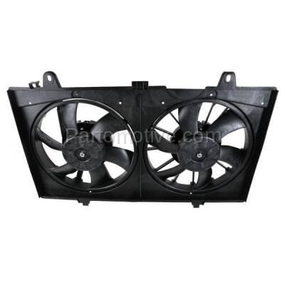 TYC - FMA-1409TY TYC 07-12 Sentra Dual Radiator A/C Condenser Cooling Fan Motor Assy 21481-ET000