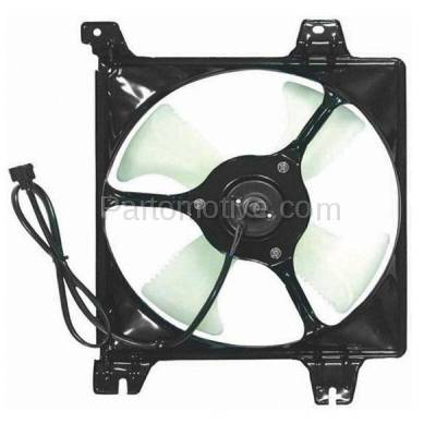 TYC - FMA-1352TY TYC 99 00 01 02 03 Galant 2.4 & 3.0L A/C Condenser Cooling Fan Motor Assy Shroud