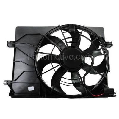 TYC - FMA-1323TY TYC 11-12 Sportage & 10-13 Tucson Radiator AC Condenser Cooling Fan Motor Assy
