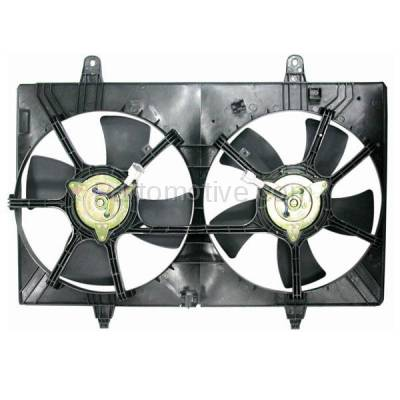 TYC - FMA-1406TY TYC 03 04 05 06 07 Murano 3.5L Dual Radiator AC Condenser Cooling Fan Motor Assy