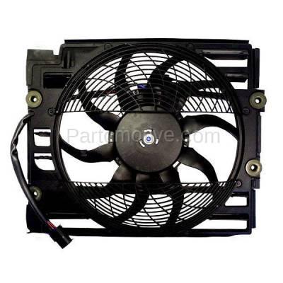 TYC - FMA-1028TY TYC 97-98 BMW 5-Series 540i 528i A/C Condenser Cooling Fan Motor Assy w/ Shroud