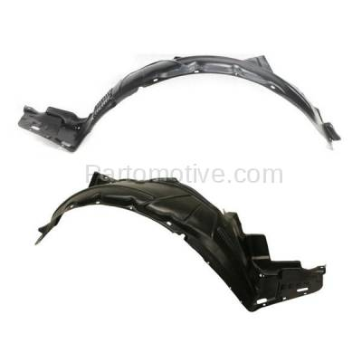 Aftermarket Replacement - IFD-1010L & IFD-1010R 06-08 TSX Front Splash Shield Inner Fender Liner Panel Left Right Side SET PAIR