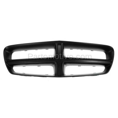 Aftermarket Replacement - GRL-1352C CAPA 11-14 Charger Front Upper Grill Grille Black Shell CH1210108 68104033AA