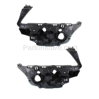 Aftermarket Replacement - BRT-1006FL & BRT-1006FR 11-14 BMW X3 (with M Package) Front Bumper Cover Retainer Mounting Brace Reinforcement Support SET PAIR Right Passenger & Left Driver Side Plastic Black