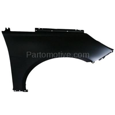 Aftermarket Replacement - FDR-1696R 2011-2014 Hyundai Sonata (Sedan 4-Door) Front Fender Quarter Panel (without Molding & Turn Signal Light Holes) Primed Steel Right Passenger Side
