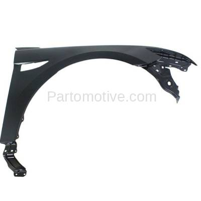 Aftermarket Replacement - FDR-1747R 2010-2019 Ford Taurus & Police Interceptor Front Fender Quarter Panel (without Molding Holes) Primed Steel Right Passenger Side