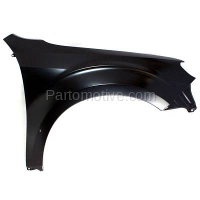Aftermarket Replacement - FDR-1326RC CAPA 2009-2013 Subaru Forester (2.5 Liter H4 Engine) Front Fender Quarter Panel (without Molding Holes) Primed Steel Right Passenger Side