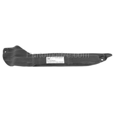 Aftermarket Replacement - ESS-1317R Rear Engine Splash Shield Under Cover For 07-12 Elantra & 10-13 Forte Right Side