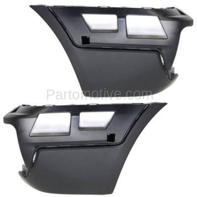 Aftermarket Replacement - BED-1000L & BED-1000R 2007-2010 BMW X3 (2.5 & 3.0 Liter Engine) Rear Bumper Extension End Cap Right Passenger & Left Driver Side Textured Plastic
