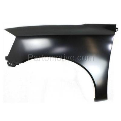 Aftermarket Replacement - FDR-1757LC CAPA 2005-2015 Nissan Titan (5.6 Liter V8 Engine) (without Sport Appearance Package) Front Fender Quarter Panel Primed Steel Left Driver Side