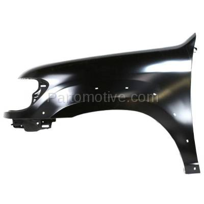 Aftermarket Replacement - FDR-1674LC CAPA 2005-2007 Toyota Sequoia & 2005-2006 Tundra Pickup Truck (Limited & SR5) Front Fender (with Flare Holes) Primed Steel Left Driver Side