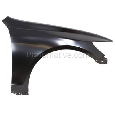 Aftermarket Replacement - FDR-1373RC 2006-2011 Lexus GS-Series (Sedan 4-Door) Front Fender Quarter Panel (without Molding Holes) Primed Steel Right Passenger Side