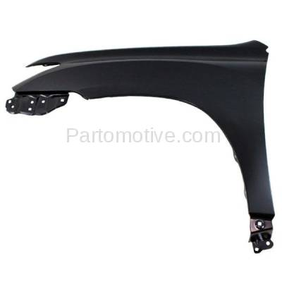 Aftermarket Replacement - FDR-1382LC CAPA 2011-2013 Toyota Highlander (Except Hybrid Model) Front Fender Quarter Panel (without Molding Holes) Primed Steel Left Driver Side