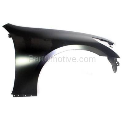 Aftermarket Replacement - FDR-1348RC CAPA 2007-2013 Infiniti G25/G35/G37 & 2015 Q40 (without Sport Package) Front Fender Quarter Panel Primed Steel Right Passenger Side