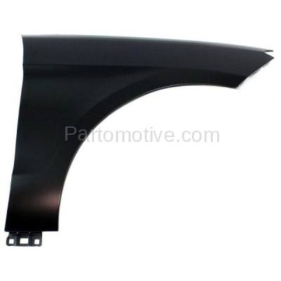 Aftermarket Replacement - FDR-1450R 2012-2015 Mercedes-Benz ML-Class (excluding ML63) Front Fender Quarter Panel (without Molding Holes) Primed Aluminum Right Passenger Side