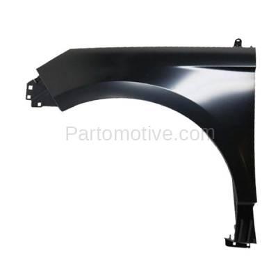 Aftermarket Replacement - FDR-1237L 2015-2020 Ford Edge (2.0 & 2.7 & 3.5 Liter Engine) Front Fender Quarter Panel Primed Steel without Molding Holes Left Driver Side