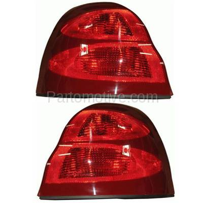 Aftermarket Auto Parts - TLT-1149LC & TLT-1149RC CAPA 04-08 Grand Prix Taillight Taillamp Brake Light Lamp Left & Right Set PAIR