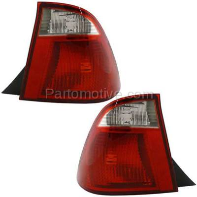 Aftermarket Auto Parts - TLT-1210LC & TLT-1210RC CAPA 05-07 Focus Sedan Taillight Taillamp Brake Light Lamp Left & Right Set PAIR