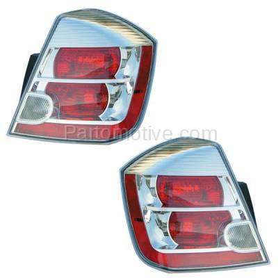 Aftermarket Auto Parts - TLT-1303LC & TLT-1303RC CAPA 07-09 Sentra 2.0L Taillight Taillamp Brake Light Lamp Left & Right Set PAIR