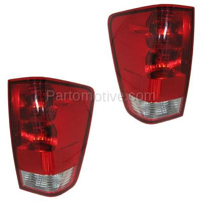 Aftermarket Auto Parts - TLT-1116LC & TLT-1116RC CAPA 04-12 Titan w/Utility Bed Taillight Taillamp Rear Light Lamp Left Right Set