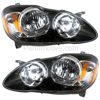 Aftermarket Auto Parts - HLT-1337LC & HLT-1337RC CAPA 05-08 Corolla S XRS Headlight Headlamp Head Light Lamp Left Right Set PAIR