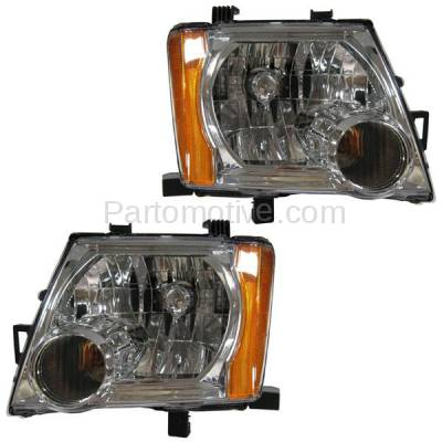 Aftermarket Auto Parts - HLT-1286LC & HLT-1286RC CAPA 05-12 Xterra Headlight Headlamp Front Head Light Lamp Right & Left Set PAIR