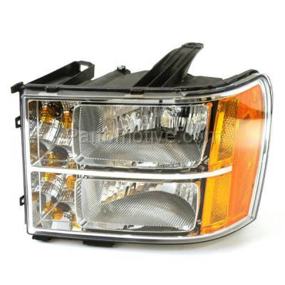 Aftermarket Auto Parts - HLT-1450LC CAPA 07-13 Sierra Truck Headlight Headlamp Front Head Light Lamp Driver Side DOT