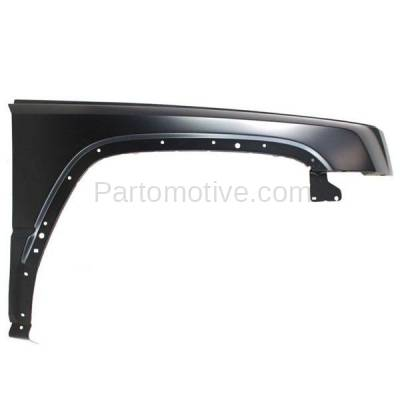 Aftermarket Replacement - FDR-1169R 2006-2010 Jeep Commander (3.7 & 4.7 & 5.7 Liter Engine) Front Fender Quarter Panel (with Molding Holes) Primed Steel Right Passenger Side