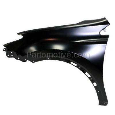 Aftermarket Replacement - FDR-1607L 2013-2018 Toyota RAV4 (2.5 Liter Engine) Except EV Model (Japan Built) Front Fender Quarter Panel Primed Steel Left Driver Side