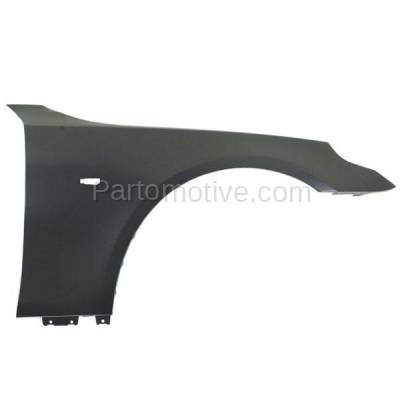 Aftermarket Replacement - FDR-1024R 2004-2010 BMW 5-Series (Sedan & Wagon) Front Fender Quarter Panel (without Molding Holes) Primed Steel Right Passenger Side