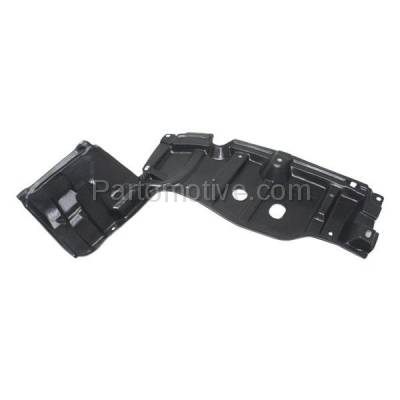 Aftermarket Replacement - ESS-1597L 14 Yaris Front Engine Splash Shield Under Cover Guard Left Driver Side TO1228194