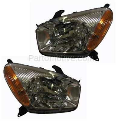 Aftermarket Auto Parts - HLT-1128LC & HLT-1128RC CAPA 01-03 Rav-4 Headlight Headlamp Front Head Light Lamp Left & Right Set PAIR