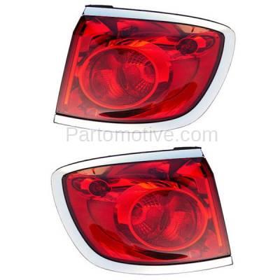 Aftermarket Auto Parts - TLT-1607LC & TLT-1607RC CAPA 08-12 Enclave Taillight Taillamp Rear Brake Light Lamp Left Right Set PAIR