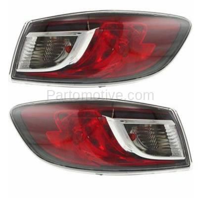 Aftermarket Auto Parts - TLT-1612LC & TLT-1612RC CAPA 10-13 Mazda3 Sedan Taillight Taillamp Outer Brake Light Lamp Left Right Set