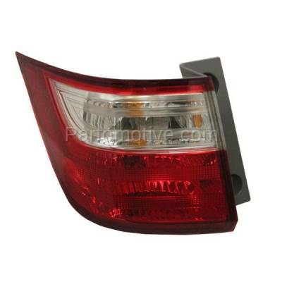 Aftermarket Auto Parts - TLT-1638LC CAPA 11-13 Odyssey Taillight Taillamp Rear Brake Light Outer Lamp Driver Side LH