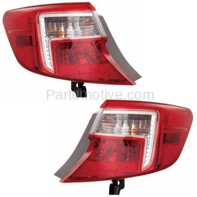 Aftermarket Auto Parts - TLT-1658LC & TLT-1658RC CAPA 12-13 Camry & Hybrid Taillight Taillamp Rear Light Lamp Left Right Set PAIR