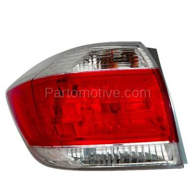 Aftermarket Auto Parts - TLT-1647LC CAPA 11-13 Highlander Taillight Taillamp Rear Brake Light Lamp Driver Side LH L